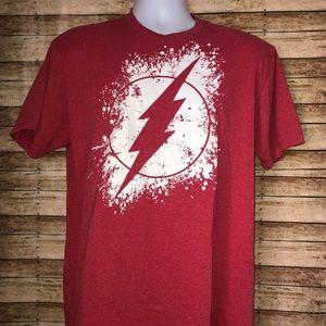 DC Comics Flash Red Thunder  T-Shirt Sz L